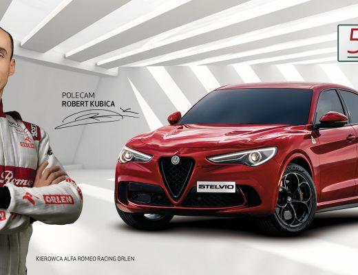 Robert Kubica, kierowca F1 Alfa Romeo Racing Orlen, ambasadorem marki Alfa Romeo w Polsce